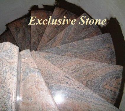 Placare trepte granit Juparana