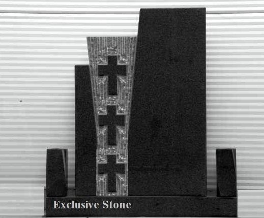 Cruce executata din masiv de granit Negru