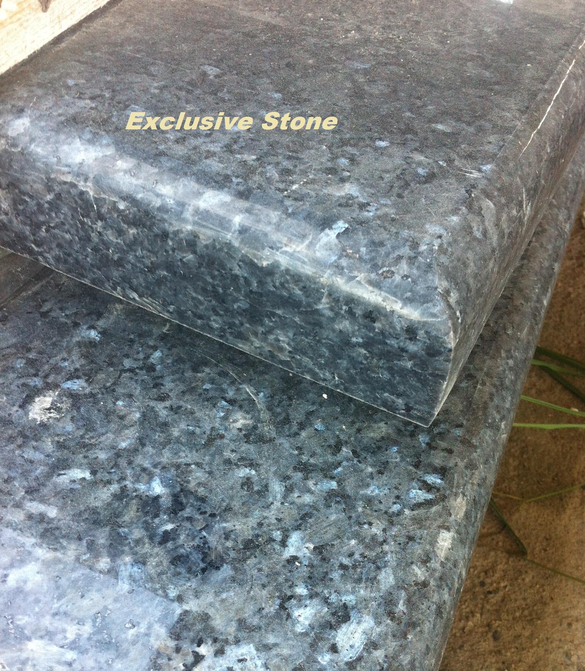 Piese /masive Granit Perla Blue cu grosimi de 2, 3, 4, 5, 6, 8 , 10  cm