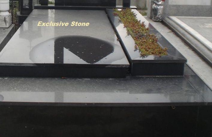Capace din granit negru Absolut cu grosimi de 2, 3, 4, 5, 6, 8 si 10 cm