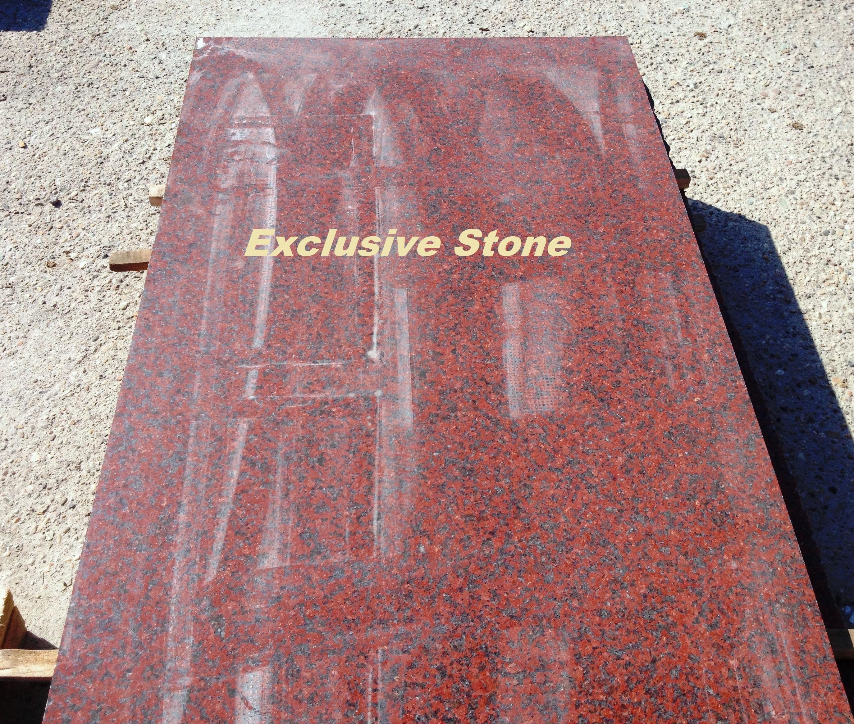 Piese /masive Granit Rosu Imperial cu grosimi de 2, 3, 4, 5, 6, 8 , 10 ,12 si 20 cm